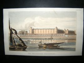 Ackermann C1810 Hand Col Print. Westminster Penitentiary, London Prison